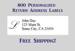 800 Printed Monogrammed Personalized Return Address Labels 1 2 X 1 3 4 Inch