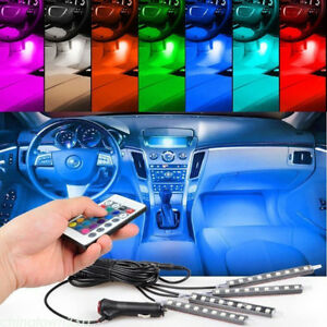 Glow Full Color Led Interior Car Kit Under Dash Foot Well Seats Inside Lighting