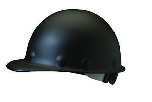 Fibre metal Roughneck Cap Style Hard Hat With 8 Point Ratchet Suspension Black