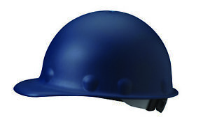 Fibre metal Roughneck Cap Style Hard Hat With 8 Point Ratchet Suspension Blue