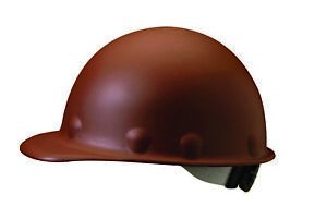 Fibre metal Roughneck Cap Style Hard Hat With 8 Point Ratchet Suspension Brown
