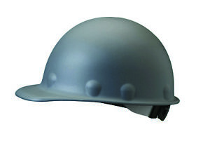 Fibre metal Roughneck Cap Style Hard Hat With 8 Point Ratchet Suspension Gray