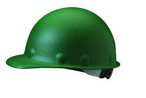 Fibre metal Roughneck Cap Style Hard Hat With 8 Point Ratchet Suspension Green