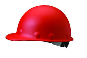 Fibre metal Roughneck Cap Style Hard Hat With 8 Point Ratchet Suspension Red