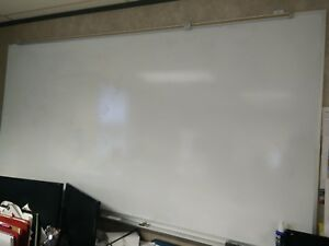 Magnetic Dry erase White Board 8 x4 In Good Condition