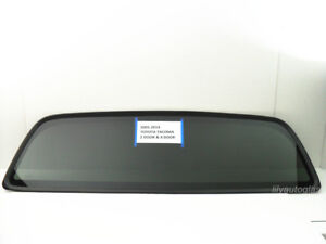 Fits 2005 2019 Toyota Tacoma Rear Window Back Glass Stationary Dark Tinted