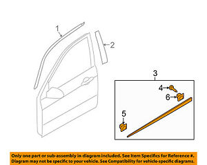Kia Oem 04 09 Spectra Front Door body Side Molding Right 877122f000
