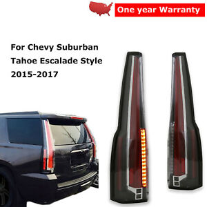 Led Tail Lights Rear Lamp Pair For Chevy Suburban Tahoe Escalade Style 2015 2017