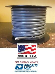 Jacketed Duplex Cable Wire 16 Gauge 2 Conductor 100 Roll Made In Usa Gray Cover