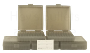 BERRY'S PLASTIC AMMO BOXES (5) SMOKE 100 Round 9MM  380 - FREE SHIPPING
