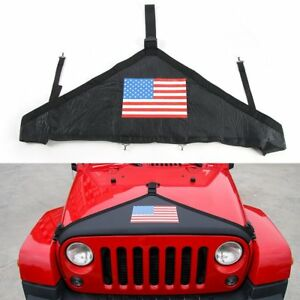 American Flag Front Hood Bra Cover For 2007 2017 Jeep Wrangler New Free Shipping