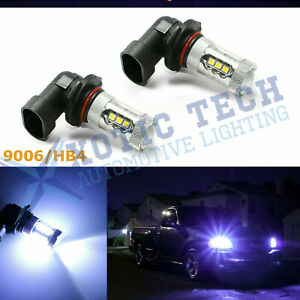 9006 Hb4 9012 Ice Blue 8000k Cree Led Driving Fog Light Bulbs Projector Drl Lamp