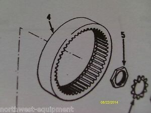 Clark Michigan Hub Ring Gear P n 119218 On Front Or Rear Axle Of 175b Loader