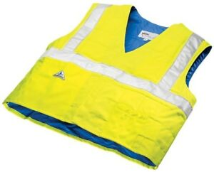 Xl Traffic Safety Cool Vest High Visibility Waterproof Lightweight Construction
