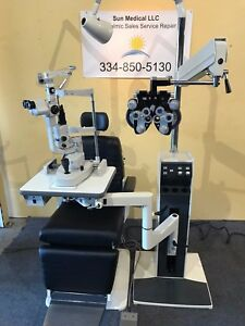 Reliance 6200 Chair 7720 Stand Topcon D2 Slit Lamp Phoropter Digital Projector