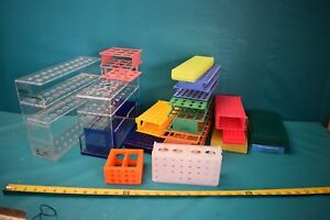 Used Lot Of Lab Racks different Sizes And Colors