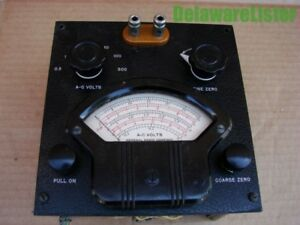 vintage General Radio Co Ac Volts A c Volts Panel Meter