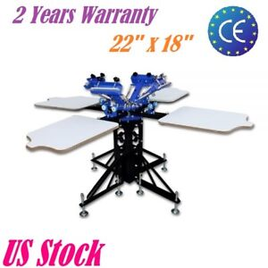 4 Color 4 Station Silk Screen Printing Machine T shirt Printing Press Equipment