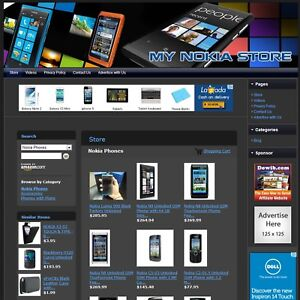 Nokia Cell Phone Store premium Affiliate Website Business For Sale Free Domain