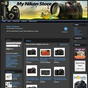 Nikon Camera Store Premium Affiliate Website Business For Sale free Hosting