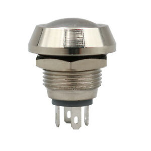 50pcs Waterproof 12mm Metal 4pin Momentary 1no 1nc Mini Domed Push Button Switch