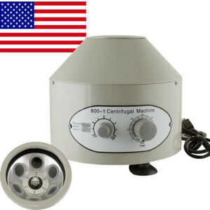 Portable Electric Centrifuge Machine Lab Medical Practice 800 1 4000rpm 20 Ml X6