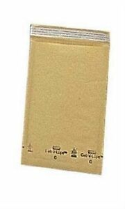 250 Bubble Padded Shipping Bags 6 W X 10 L Golden Kraft Envelopes Blank 0