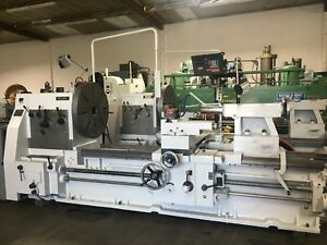 Cadillac 40 60 X 80 cc Gap Bed Engine Lathe No 4080g 4 Spindle Thru 4812