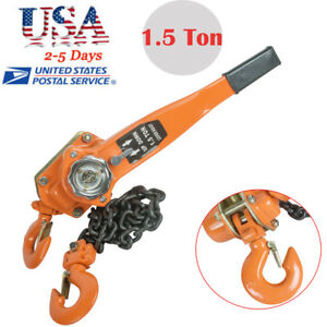 1 5t 5ft Lever Block Hoist Lift Winch Chain Ratcet Ratcheting Come Along Tools