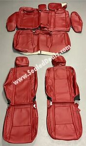 2015 To 2021 Dodge Charger Sxt Rt R t Custom Leather Seat Covers Red