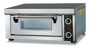 Shivakitchen Electric Pizza baking Oven Commercial Single Deck 220 240v 3000w