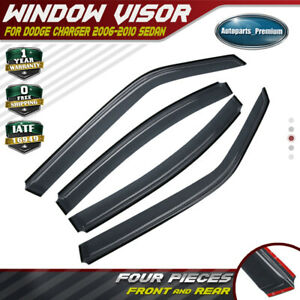 4x Injection Window Visors Vent Rain Guards Shields For Dodge Charger 2006 2010