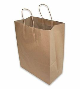 2dayship Paper Retail Shopping Bags W Rope Handles 50 Count Home Art Projects