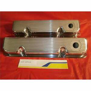 Racing Power Rpc R7638 Engine Valve Covers Ford 351 Cleveland All Fins V C Pol