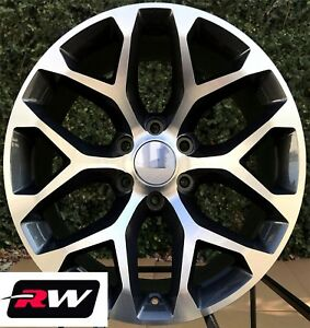 20 Inch Chevy Tahoe Snowflake Wheels Oe Replica Rims Gunmetal Machined 6x139 7
