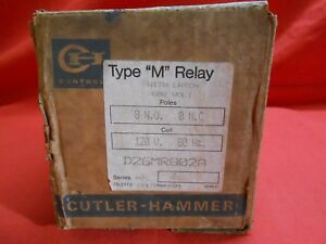 Cutler hammer D26mr802a Type M Latch Relay 600v 8no 0 Nc 120v Coil New