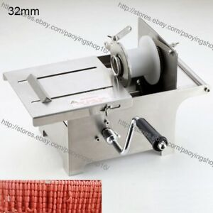 32mm Stainless Steel Hand Rolling Sausage Stuffer Sausage Knotting Tying Machine