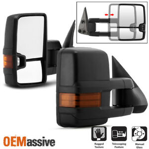 Fit 1999 2006 Silverado Suburban Sierra Manual Led Signal Side Towing Mirrors