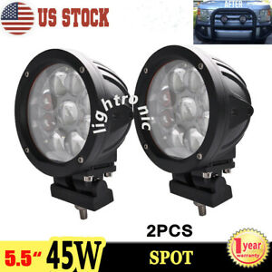 2x 5 5 45w Cree Round Led Work Light Spot Driving Fog Lamp Offroad Truck Atv