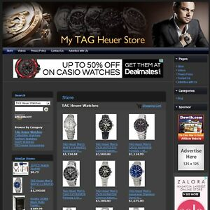 Tag Heuer Watches Store Affiliate Website Business For Sale free Domain