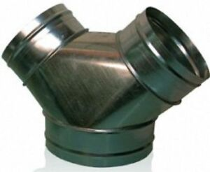 New Wye Branch 8 X 8 X 8 Y Duct Connector Fitting For Fans And Ventilation