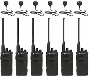 6 Motorola Rdu4100 Uhf Business Two way Radios With Remote Mics