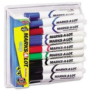 Desk Style Dry Erase Markers Chisel Tip Assorted 24 pack X 2