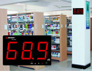 Digital Lcd Sound Noise Level Meter Wall Hanging Type 30 130db Noise Tester D4
