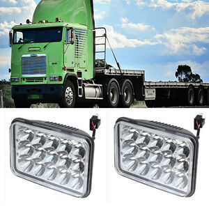 Pair Led Headlights Fit For Freightliner Flb 2 Pack 4500lm Hi lo Sealed Beam