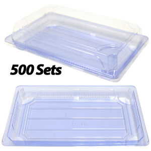 Clear Sushi Containers 8 4x5 5x1 7 500 Sets Plastic Sushi Box takeout to Go