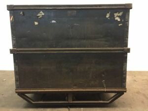 Vintage Industrial Fibre Mfg Box Cart