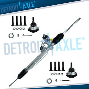 New Complete Power Steering Rack And Pinion Upper Ball Joints 1984 Corvette
