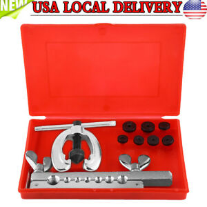 10pcs Pipe Flaring Tool Kit Double Flare Dies Tubing Car Truck Repair Tool Set