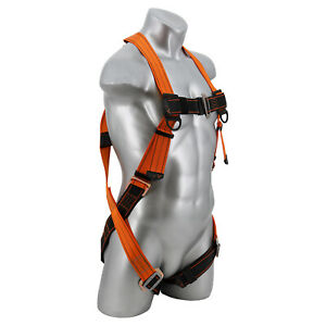 Warthog 5 point Fall Arrest Rescue Full Body Harness With Pass thru Leg Buckles
